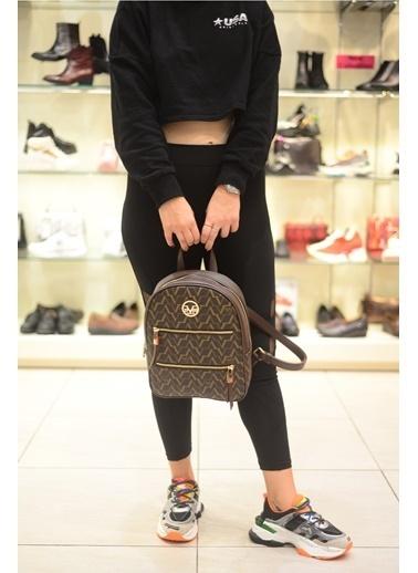 Versace 16V69 Italia 5182 Kahverengı Kadın Sırt Çanta Kahve